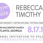 #adorrablewedding: Invites & Programs